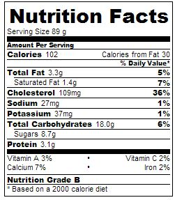 """Black Cherry Ice Cream Nutritional Information"""