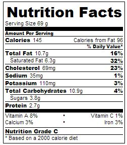 """""""Pickled Ginger Ice Cream Nutritional Information"""""""